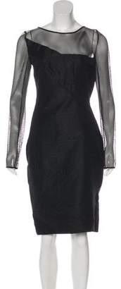 Roland Mouret Jacquard Sheath Dress