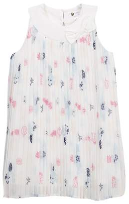 Petit Lem Woven Print Dress (Toddler Girls & Little Girls)