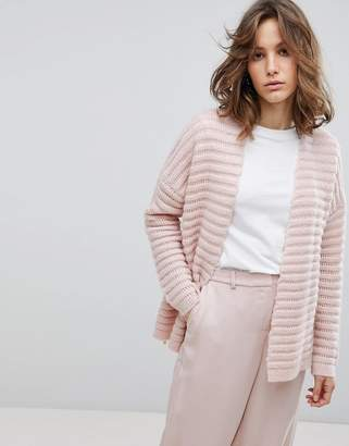 Selected Ribbed Knit Cardigan