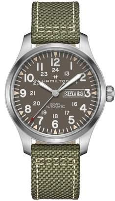 Hamilton Khaki Field Canvas Strap Watch, 42mm