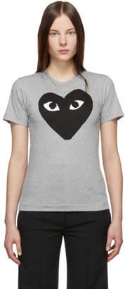 Comme des Garcons Grey and Black Big Heart T-Shirt