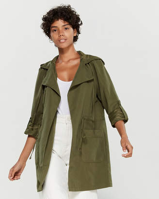 Love Tree Oversized Hooded Trench