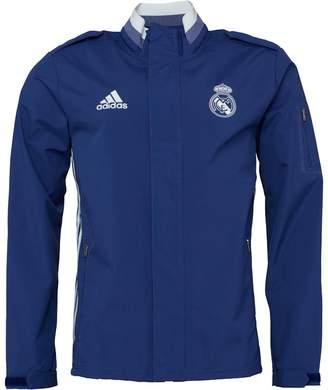 adidas Mens RMCF Real Madrid Travel Jacket Raw Purple/Crystal White