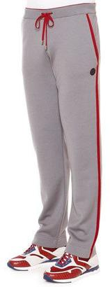 Stefano Ricci Red-Striped Knit Sweatpants, Gray $2,995 thestylecure.com