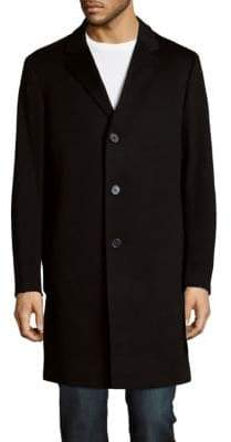 Saks Fifth Avenue Buttoned Long Coat