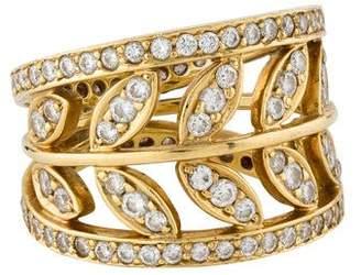 Temple St. Clair 18K Diamond Vine Ring