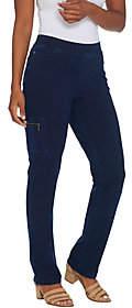 Denim & Co. Regular Comfy Knit Jeans withCargo Pocket