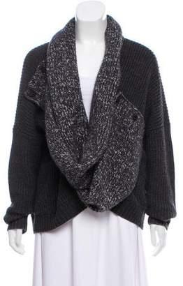 AllSaints Wool Oversize Cardigan