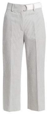 Akris Punto Striped Cropped Pants