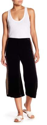 Johnny Was Side Embroidered Wide Leg Cropped Pants