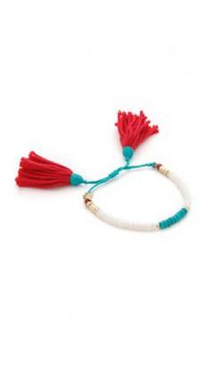 Aurelie Bidermann Sioux Soft White Bracelet $260 thestylecure.com