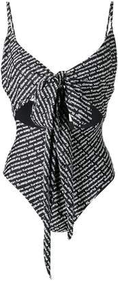 Diane von Furstenberg reversible logo swimsuit