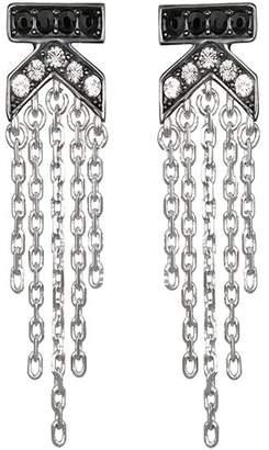 Karl Lagerfeld Paris K Fringe Crystal Earrings