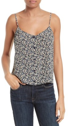 Women's Equipment Perrin Print Silk Camisole $148 thestylecure.com