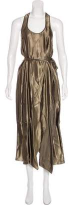 Nina Ricci Metallic Maxi Dress w/ Tags