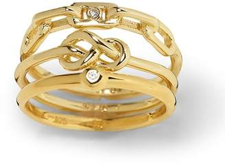 Banana Republic Everyday Luxuries 14k Gold-Plated Stack Rings