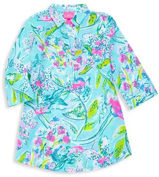 Lilly Pulitzer Girl's Natalie Floral Cover-Up Dress