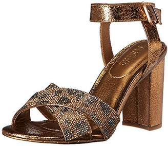 Kenneth Cole Reaction Women's Crash Glitzy X-Band Strap with Mini Jewels on High Heel Dress Sandal