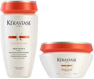 Nutritive Bain Satin 2 250ml & Masquintense Cheveux Epais (For Thick Hair) 200ml
