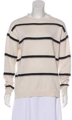 Brunello Cucinelli Embellished Cashmere Top