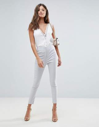 Asos DESIGN high waist pants in skinny fit
