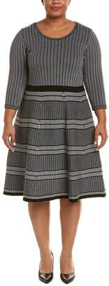 Taylor Jacquard A-Line Midi Dress