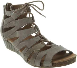 Earth Origins Leather Lace-up Wedges - Harley