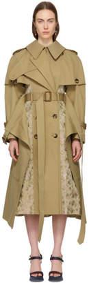 Alexander McQueen Beige Patchwork Trench Coat