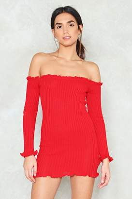 Nasty Gal Hit It Off Ribbed Dress