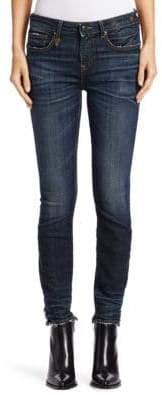 R 13 Alison Cut-Out Back Hem Jeans