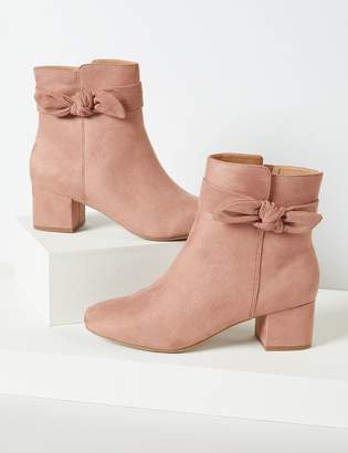 Lane Bryant Faux-Suede Ankle Boot With Bow