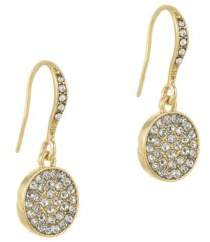 Laundry by Shelli Segal Sunset Boulevard Crystal Pave Disc Drop Earrings