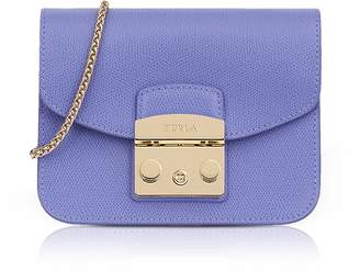 Furla Lizard Printed Leather Metropolis Mini Crossbody Bag