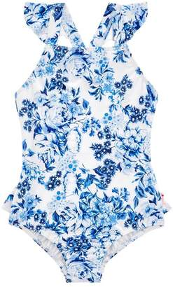 Seafolly Girls Toddler Forget Me Not Ruffle One Piece