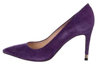 Tory Burch Suede Pointed-Toe Pumps