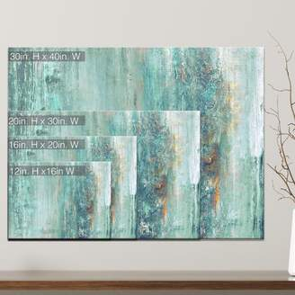 Beachcrest Home 'Abstract Spa' Wrapped Graphic Art Print on Canvas