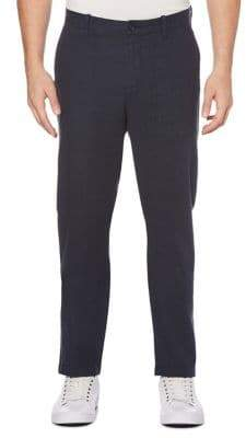 Perry Ellis Slim-Fit Crosshatch Cotton Chino Pants