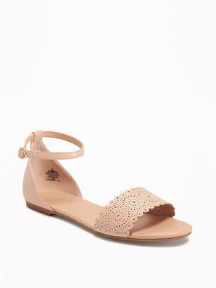 Laser-Cut Peep-Toe Sandals for Women $26.94 thestylecure.com