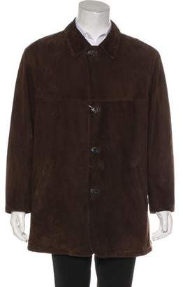 Salvatore Ferragamo Suede Virgin Wool-Lined Coat