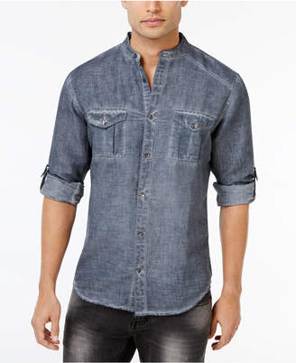 INC International Concepts I.N.C. Men's Garment Dye Linen Shirt, Created for Macy's
