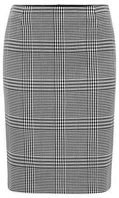 HUGO BOSS Glen-check pencil skirt with exposed zip