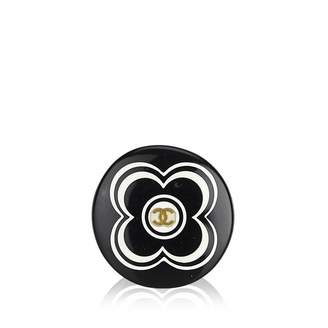 Chanel Black Plastic Ring