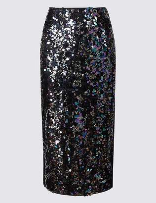 Marks and Spencer Embellished Pencil Midi Skirt