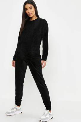 boohoo Maternity Terry Towelling Crew Neck Lounge Set