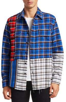 Off-White Check Reconstructed Button-Down Shirt