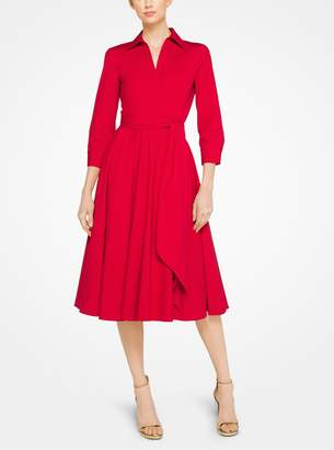 Michael Kors Stretch Cotton-Poplin Wrap Shirtdress