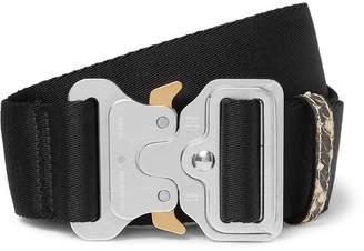 0c91016c7a5 Alyx 4.5cm Black Faux Snake-Trimmed Webbing Belt