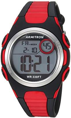 Armitron Sport Unisex 45/7076BRD Digital Chronograph Red and Black Resin Strap Watch