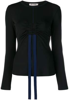 Sportmax drawstring-detail fitted top