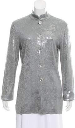 Krizia Metallic Long Sleeve Top